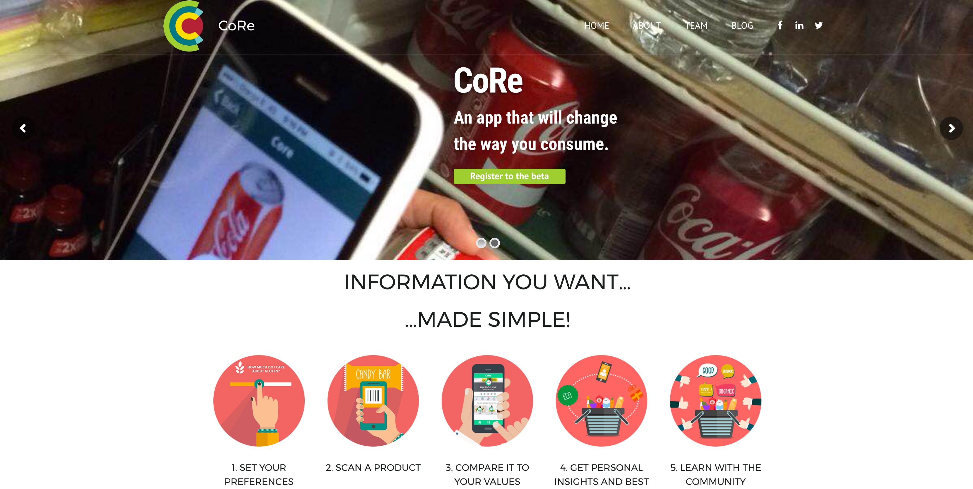 Refonte du site du projet Core !