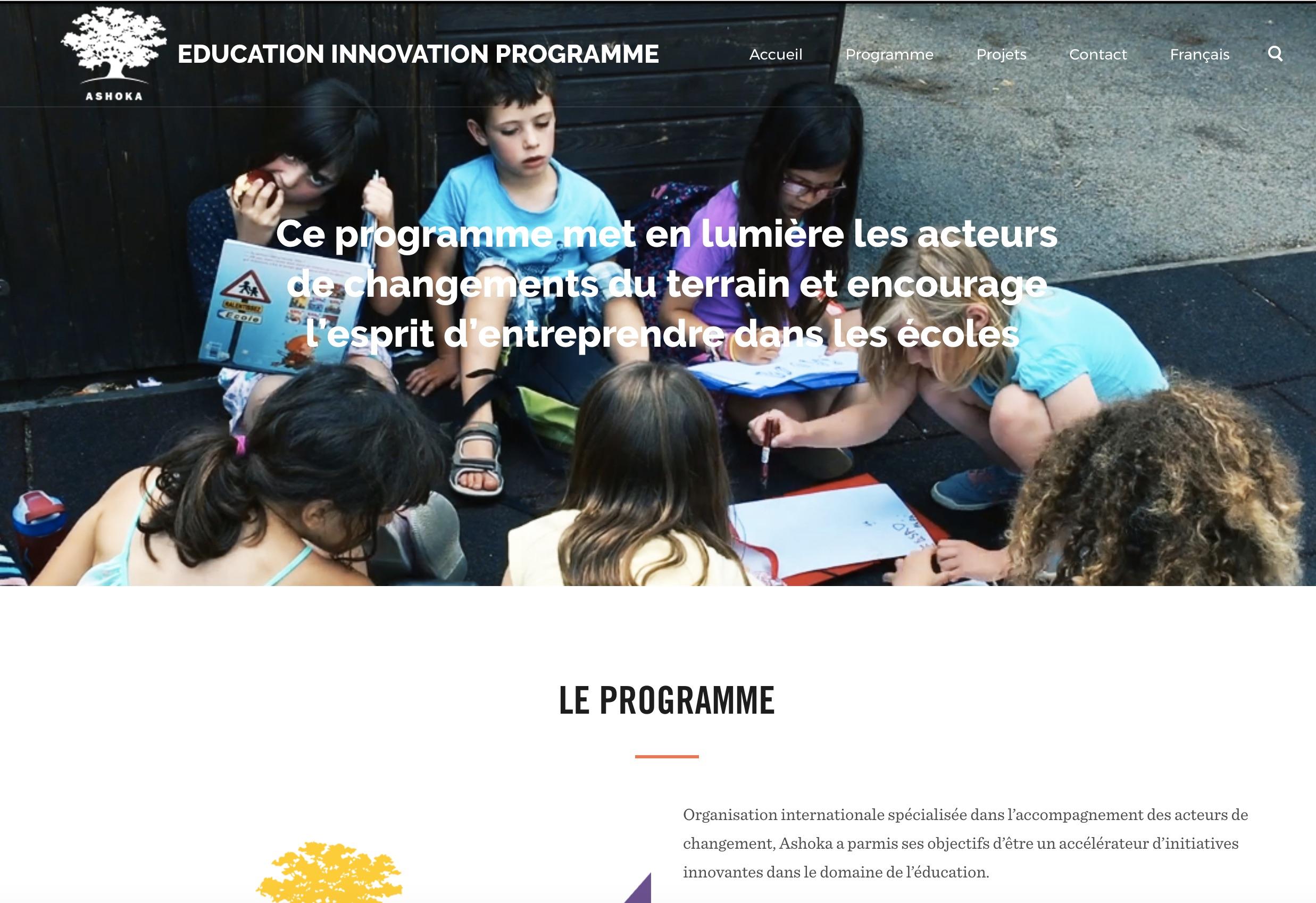 Education Innovation Programme, un nouveau site pour Ashoka